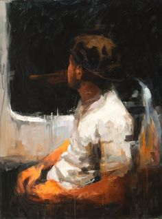 """In Transit"" 24 x 18 Acrylic by John K. Harrell"