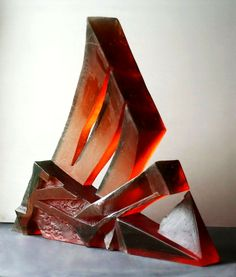 Petr STACHO-Message from the Inside (2002) - cast glass, 52x52x52x9cm