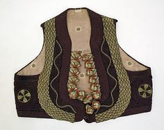 eastern european Vest, c 1800-1925, Met Costume Institute. (Wow, that's a pretty wide probability for date, there, but still a very cool piece. :))