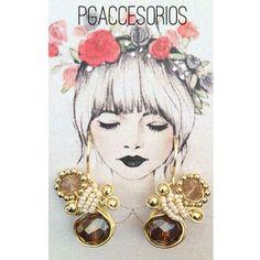 Handmade #pgaccesorios #chapadeoro #handmadejewelry #handmade #hechoamano #joyeria #aretes #earrings #hechoenmexico