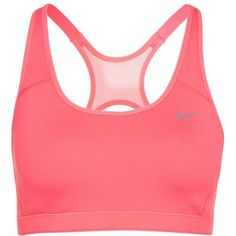 Nike Performance XBACK Sports bra ($36) ❤ liked on Polyvore featuring activewear, sports bras, nike, sport, 39. gym wear., 38. gym wear., pink, nike sportswear, pink sportswear and red sports bra