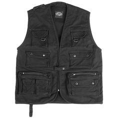 Moleskin Fishing Vest Black Thumbnail 1