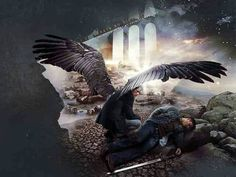 Castiel and Dean Winchester from Supernatural Misha Collins, Jensen Ackles, Impala 67, Destiel Fanart, Supernatural Fan Art, Supernatural Cartoon, Supernatural Wallpaper, Dean And Castiel, Dean Winchester