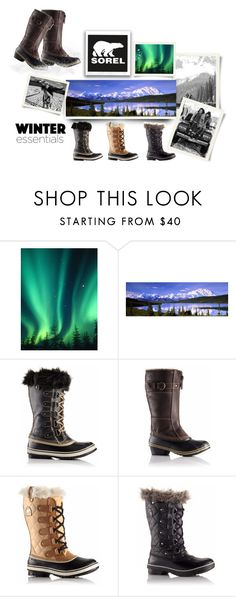 """Introducing the 2015 Winter Collection from SOREL: Contest Entry"" by bluelake ❤ liked on Polyvore featuring SOREL"