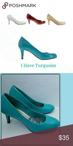 ⚄SALE⚄                   Turquoise Round Toe Pumps Comfy and stylish round toe pumps  Heel Height: 3 (REG $35) Shoes Heels