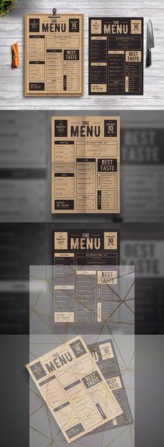 restaurant menu Design Layout Food Menu Template Ideas For 2019 Cafe Menu Design, Food Menu Design, Restaurant Menu Design, Menu Board Design, Restaurant Identity, Restaurant Menu Template, Restaurant Menu Boards, Pizzeria Menu, Layout Design