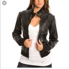 I just discovered this while shopping on Poshmark: 11/27/16 host pick! Guess Moto Faux leather jacket. Check it out! Price: $65 Size: S