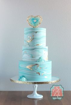 marble and geode cake
