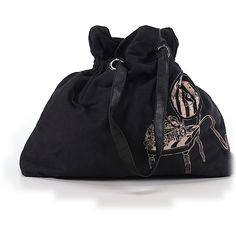 Pre-owned Victoria's Secret Tote: Black Women's Bags ($32) ❤ liked on Polyvore featuring bags, handbags, tote bags, black, pre owned handbags, tote bag purse, victoria secret tote bag, handbags purses and handbags tote bags
