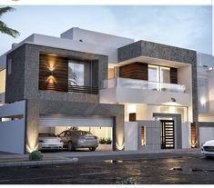 Simple home design ideas. Contemporary house designs have a great deal to offer to a modern dweller. Ultimately, the modern house style does not restrict imaginative minds at all. Minimalist House Design, Modern House Design, Style At Home, House Front Design, Door Design, Brick Design, Design Room, House Elevation, Contemporary Bedroom