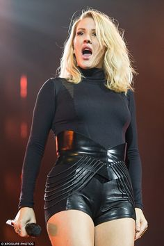 Going hell for leather: Ellie Goulding wowed the crowd on Saturday night as she hit the stage on her Delirium tour in Manchester