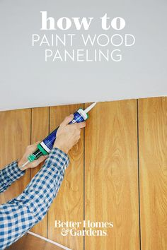 While painting paneling isn't hard to do, proper preparation is important to allow the paint to adhere well. Without taking appropriate measures, you could end up with an uneven paint job that you'll have to redo later on. Follow our step-by-step instructions for how to paint wood paneling, and get a new look in no time. #howtopaintwoodpaneling #upgradewoodpaneling #woodpanelingmakeover #paintedwoodpaneling #bhg Wood Paneling Makeover, Painting Wood Paneling, Take You Home, Home Decor Trends, Step By Step Instructions, Home Accessories, New Look, Wall Art, House