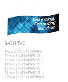 2D HANGING STRUCTURE -S-CURVE  #Trade#show #Displays #Hanging #Structure. Call us today for a quote. 1-866-7ULTIMA (1-866-785-8462) S Curves, Trade Show, 2d, Quote, Messages, Quotation, Qoutes, Text Conversations