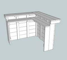 Zelf een hoekbar maken van steigerhout, gratis doe het zelf bouwtekeningen voor barkrukken.
