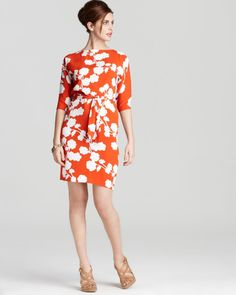 $445.00 DVF Maja Silk Floral Belted