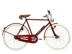 The lush red Belgian Achielle Miel*Marie bicycle.