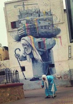 Moroccan street art and reality