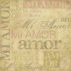 Karen Foster Design - Spanish Momentos Collection - Paper - My Love - Mi Amor, CLEARANCE at Scrapbook.com