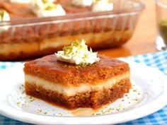 Σιροπιαστό γλυκάκι με κρέμα1 Coffee Cake, Tiramisu, French Toast, Cheesecake, Pie, Breakfast, Ethnic Recipes, Sweet, Desserts
