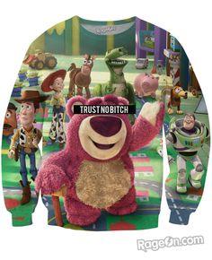 Trust No Bitch Toy Story Crewneck Sweatshirt