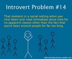 As much as I try to kill the introvert in me, there's no way to get around it haha.