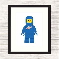 Classic Blue Spaceman Print  Nursery or Child's by paper4download