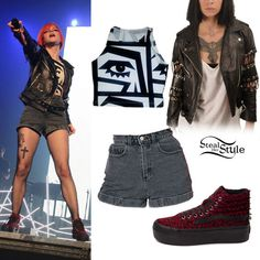 Coyote Biker Jacket (£225.00)  KESH Cotton Spandex Sleeveless Crop Top  ( 35.00. Sk8 Hi OutfitPlatform Sneakers ... 212bc2b5b7