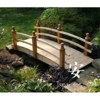 Red Cedar Double Rail Bridge  Placed over your pond, stream or your Japanese style dry riverbed, our wooden bridges will add a graceful touch to your garden and provide a lovely place for meditation and contemplation. Our Japan...    Price: $639.00