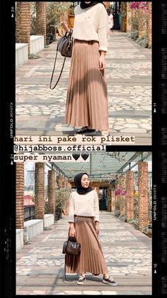 May 2020 - hijab remaja rok plisket 2020 Tesettür Modası ve Modelleri Hijab Casual, Ootd Hijab, Hijab Chic, Hijab Elegante, Casual Outfits, Outfit Essentials, Hijab Mode Inspiration, Teen Skirts, Skirt Fashion