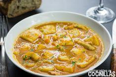 Spanish Kitchen, Calamari, Cheeseburger Chowder, Seafood Recipes, Thai Red Curry, Salad Recipes, Soup, Fish, Gastronomia