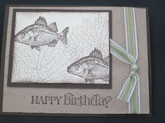 I love this masculine stamp set!  This is Stampin' Up! By the Tide stamp set.  It was a simple card to make.  For a list of the Stampin' Up! materials used click on the pin and take a visit at my blog. Shared by Lisa Bowell-Stampin' Up! Demonstrator @ lisastamps.com