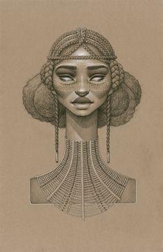 Sun Goddesses by Sara Golish Sundust is a new series of ten portraits of fictional sun goddesses by Toronto-based visual artist