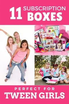 Tween girl subscription boxes are so much fun! Need a fun gift for a tween girl? Choose a subscription box! The best subscription boxes for tweens are here! Tween Girl Gifts, Tween Girls, Subscription Boxes For Tweens, Monthly Crates, Kids Up, Mom Advice, Craft Activities For Kids, Family Kids, Raising Kids