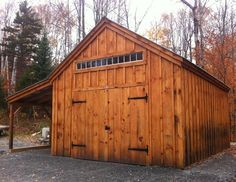 14x20 One Bay Garage. Example shows optional 8x20 overhang + 8 foot double barn doors. Beautiful. Available as Kits - 2 people 30 hours + Plans $39.95. Kits ship *Free in the continental US + eastern Canada. http://jamaicacottageshop.com/shop/one-bay-garage/ http://jamaicacottageshop.com/wp-content/uploads/pdfs/pdf14x20onebaygarage.pdf  http://jamaicacottageshop.com/free-shipping/ #jamaicacottageshop #shed #sheds #garages #rusticgarage