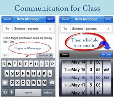 Remind101.  Texting tool to send text messages to students and parents without using your personal number or having users' numbers visible.