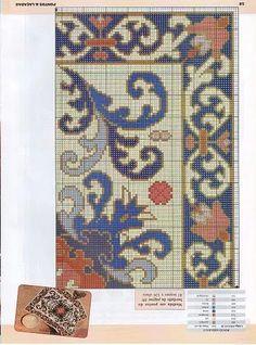 Tapestery - Majida Awashreh - Álbuns da web do Picasa Cross Stitch Geometric, Cross Stitch Love, Cross Stitch Borders, Cross Stitching, Diy Embroidery, Cross Stitch Embroidery, Embroidery Patterns, Crochet Patterns, Patterned Carpet