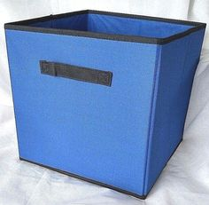 """12""""Set of 2 Pcs Storage Box Household Organizer Fabric Cube Bin Basket Container #Unbranded"""