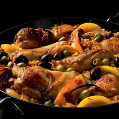 Simple Cuisine Menu Moroccan Baked Chicken with Chickpeas and Rice >> Tasty Recipes Meals For Four, One Pot Meals, Rice Recipes, Chicken Recipes, Spinach Recipes, Meal Recipes, Turkey Recipes, Recipies, Healthy Recipes