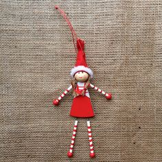Christmas Decoration - Wooden Lillie Toy Doll