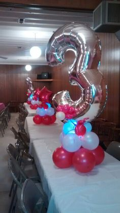 No helium balloon arrangement