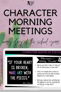 Character Education Morning Meeting Digital Whiteboard and Printable Journal BUNDLE, ideal for social and emotional learning. This bundle includes morning meeting day starters on: resilience, courage, self-confidence, self-respect, tolerance, leadership, respect, empathy, honesty and compassion. #morningmeetings #charactereducation Teaching Character, Character Education, Character Development, Personal Development, Social Emotional Learning, Social Skills, Help Teaching, Teaching Resources, Growth Mindset Activities