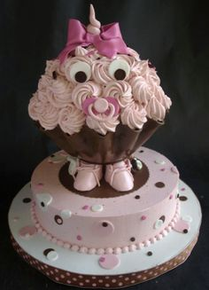 Giant Cupcake Baby! I'm sorry this is cite- pink or blue or any color to match shower! Or white with pink or blue cake inside for  baby gender reveal shower!