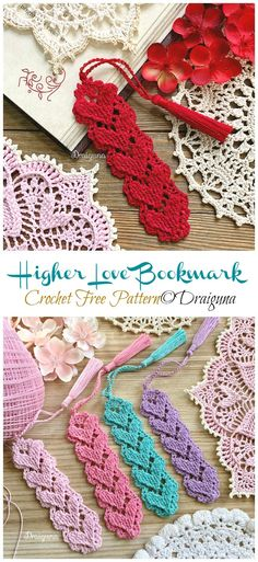 Higher Love Bookmark Crochet Free Pattern - Crochet & Knitting - You are in the right place about crochet projects Here we offer you the most beautiful pictures ab - Marque-pages Au Crochet, Crochet Gratis, Thread Crochet, Crochet Stitches, Crochet Hooks, Crochet Coaster, Love Crochet, Knitting Projects, Crochet Projects