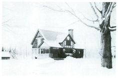 The library in the winter, circa 1913.