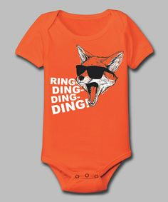 Take a look at this Orange 'Ring-Ding-Ding-Ding' Bodysuit - Infant by KidTeeZ on #zulily today!