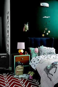How to Use Rich Wall Colors in Kids Rooms via blog.landofnod.com