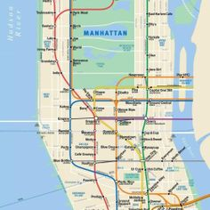 New York's Best Coffee Shops Subway Map http://myjavita.com/mybestcoffee