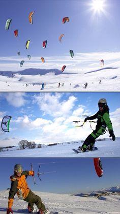 Snow kiting in Sanpete County, Utah; Snow-kiting in Europe; and Snowkiting (Kitty Hawk Kites)