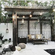 Gorgeous courtyard at the new @spell_byronbay store #imageisnotmine