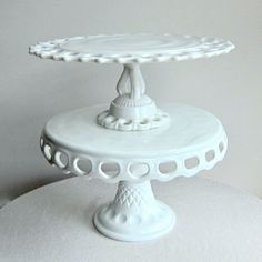 Westmoreland Milk Glass Wedding Cake Stand